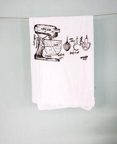 Image of Baker's Mixer Kitchen - floursack tea towel