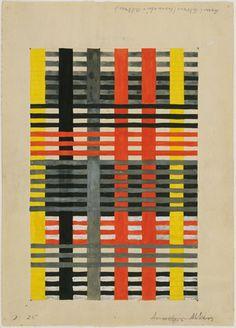 1926 : Study for Wall Hanging, Anni Albers (1899-1994) Bauhaus member