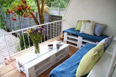 Meble z palet euro na balkonie
