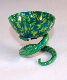 Miniature coil spring bowl by Linda Prais