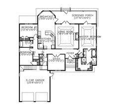 Ranch House Plan First Floor - 081D-0042 | House Plans and More
