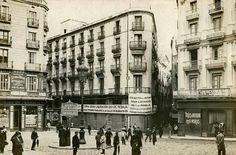 Plaça de l`Angel Argenteria/Princesa.1908