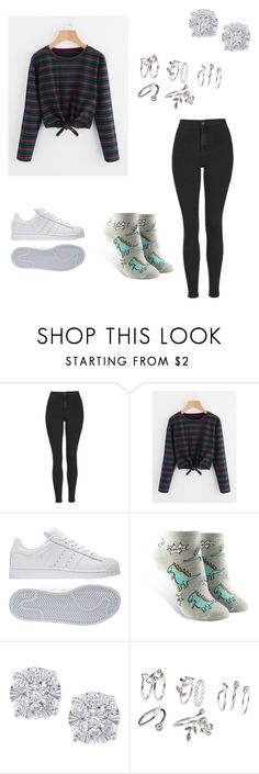 """School Outfit #30"" by junhuiswifey on Polyvore featuring Topshop, adidas, Forever 21 and Effy Jewelry"