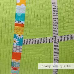 crazy mom quilts: A plus pillow