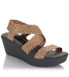 Woven to perfection! These @SteveMadden wedges will be your go-to shoe for comfort this season.