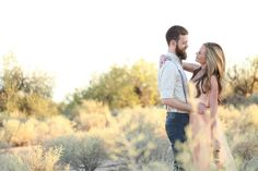 DIY Whimsical Arizona Desert Engagement Shoot {Morgan McLane Photography} // Engagement Photos  ♥