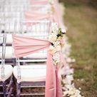 Gorgeous pink wedding aisle decor / http://www.himisspuff.com/outdoor-wedding-aisles/5/