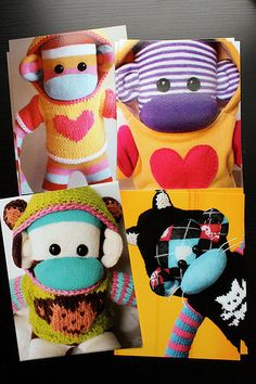 Sock monkeys in hoodies!