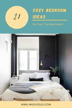 28+ Cozy Bedroom Ideas for Your Tiny Apartment #bedroom #bedroomtinyapartment
