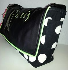 "Messenger Bag ""Paris""  von Kat Design - Die Fadenhexe auf DaWanda.com"