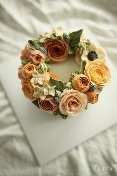 anemone glow flower cake : 네이버 블로그