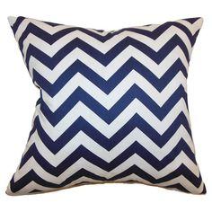 Zig Zag Pillow in Blue at Joss & Main