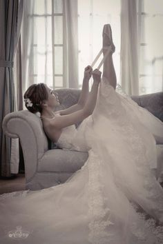 If you wear ballet shoes, you are required to dance down the aisle! :)