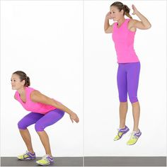 Throw this squat hop plyo move into your next workout and you wont be able to walk the next day :)