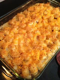 Tater Tot Casserole! One of my favorites!!