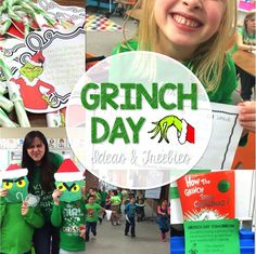 Grinch Day activities and freebies! Plus Reindeer and Polar Express Ideas Grinch Day activities and freebies! Plus Reindeer and Polar Express Ideas