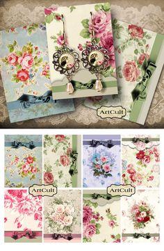 Para imprimir sostenedores de la joyería No4 Digital Collage