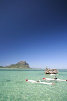 ✭ Kayaking in the Morne Lagoon, Mauritius Island - we did sea-carting to here, and then dived off the side of the boat into crystal clear waters-BEST thing ever!!