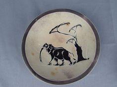 Kenya Africa Carved Soapstone Elephant Safari Scene Bowl /Dish Folk Art