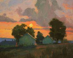 Orange Sunset by Kenn Erroll Backhaus