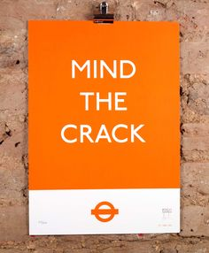 'Mind The Crack' the limited edition artwork by artist Dr D.. Available to buy online at Nelly Duff.