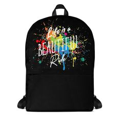 Life is a Beautiful Ride Rucksack Drawstring Backpack, Material, Backpacks, Bags, Beautiful, Sports Activities, Weather, Purses, Totes