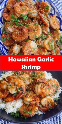 Yummy Hawaiian Garlic Shrimp Your family s favorite food and drink Hawaiian Garlic Shrimp Juicy prawns cooked in a garlicky buttery sauce this Hawaiian Garlic Shrimp is just like the shrimp trucks you d find in Hawaii Best Vegas Recipe BestVegasRecipe # Hawaiian Shrimp Recipe, Hawaiian Garlic Shrimp, Spicy Garlic Shrimp, Garlic Prawns, Shrimp And Asparagus, Cooked Shrimp, Hawaiin Food, Hawaiian Recipes, Garlic Shrimp Recipe Hawaii