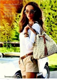 Michael Kors summer bag w/ bermuda shorts chic♡ ♥ ℒℴvℯly