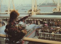 David Bowie arrives in Japan on SS Oronsay, 5 April 1973.
