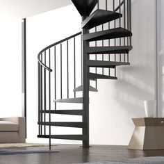 Use this staircase to access an interior balcony or mezzanine floor Available in six diameters: 1500 and Spiral Staircase Kits, Staircase Railings, Stairs, Stair Elevator, Stair Kits, Modern Railing, Interior Balcony, Mezzanine Floor, Shops