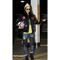 Song Ji Hyo @ Incheon Airport heading to Shanghai for Asian Smile Cup