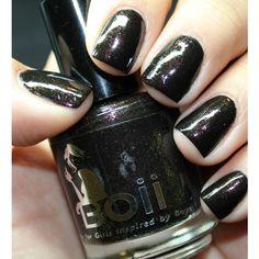 black nail polish, nail polish, u r 1 in a million ($6.99) ❤ liked on Polyvore featuring beauty products, nail care and nail polish