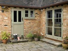 Stable Doors from Timber Windows- front door? Barn Windows, Green Windows, Timber Windows, Timber Door, Windows And Doors, Cottage Front Doors, Cottage Door, Cottage Exterior, Bungalow