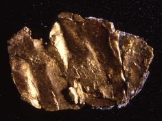 James Marshall found this tiny piece of pure gold in the tailrace of John Sutter's Coloma, California, sawmill on January 24, 1848. This is the actual nugget that sparked the rush for California gold.