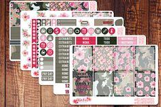 Camo Girlboss Planner Sticker Kit Army Planner Stickers