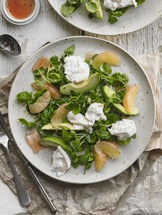 Pink Grapefruit, Avocado And Watercress Salad Recipe — Dishmaps
