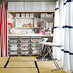 Use the ALGOT storage shelving to organize your craft space. Look close! There are other solutions that you can find at IKEA, too.