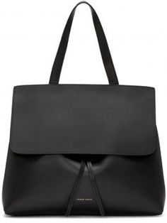 Black Leather Lady Bag Mansur Gavriel - Structured vegetable-tanned leather…