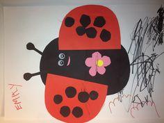 Ladybug toddler craft