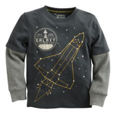 """Jumping Beans Glow-in-the-Dark """"Galaxy Explorer"""" Mock-Layer Tee - 5/6"""