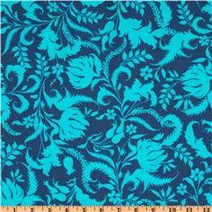 Amy Butler Lark Dreamer Ivy Bloom Cobalt Blue