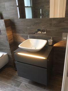 Villeroy & Boch Legato Vanity Unit in Glossy Grey 600mm Wide + LED & NO BASIN