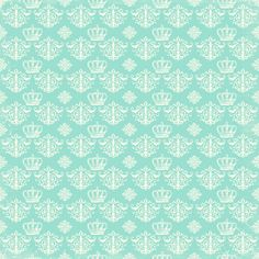 free digital scrapbook paper_blue damask regency