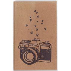 Notebook- Canon Camera- Original Artwork