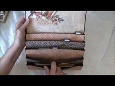 Enjoy Anne Rostad's video on her Graphic 45 A Ladies Diary Purse organizer,boxes journal projects. It includes a tutorial! #graphic45 #video