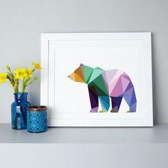 Geometrische Bear afdrukken