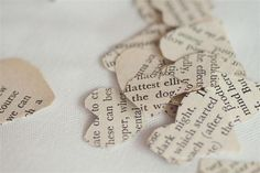 Heart book confetti, image by Devlin Photos