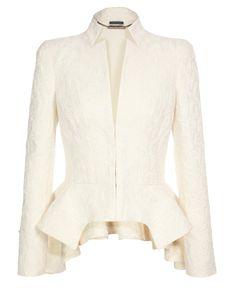 ALEXANDER MCQUEEN | Silk-cotton Jacquard peplum jacket | Browns fashion & designer clothes & clothing