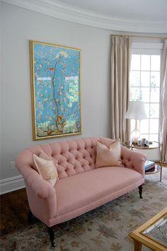 Sofa pink sofa