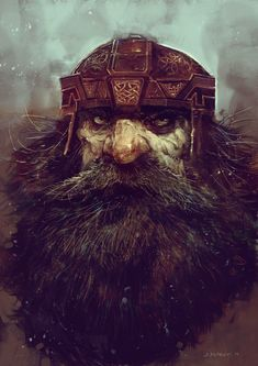 Member of the mountain clans -Disciples II fan art by SvetoslavPetrov Dark Fantasy, Fantasy Dwarf, Fantasy Warrior, Fantasy Rpg, Medieval Fantasy, Fantasy Portraits, Character Portraits, Fantasy Artwork, Character Art